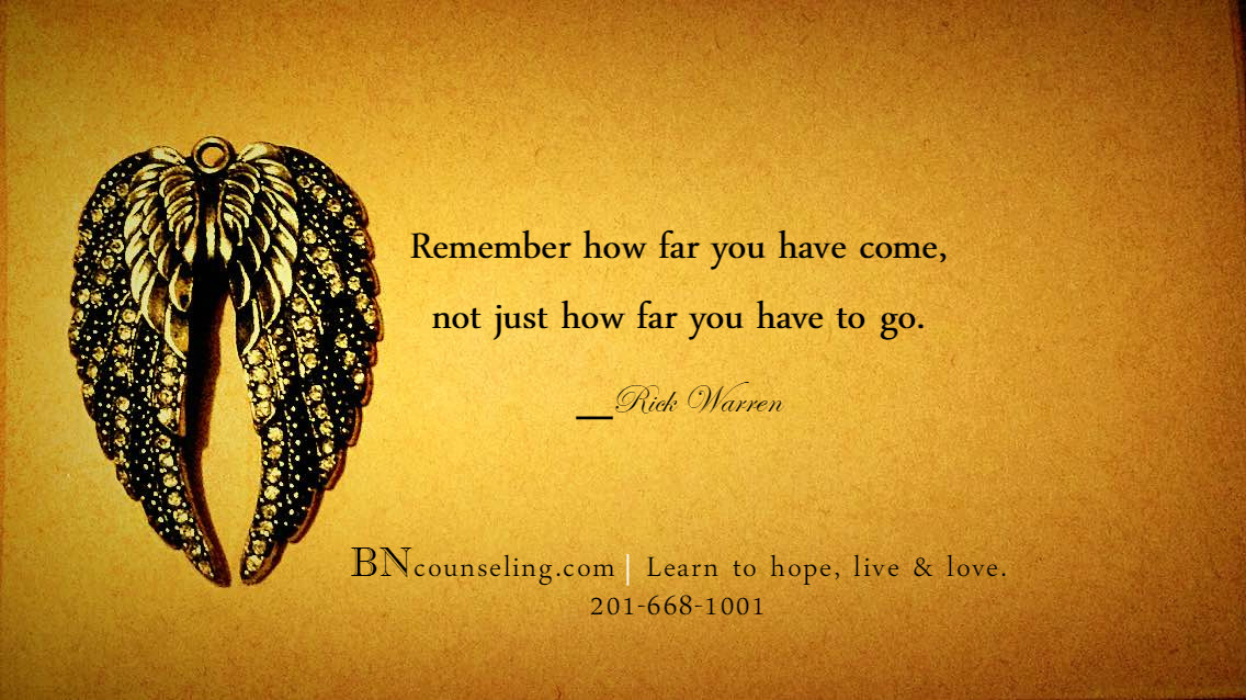 BNC-Remember how far you have come